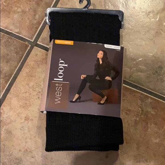 65c9d69f2b22b west loop Pants | New Womens Fleece Leggings Size Ml Black | Poshmark